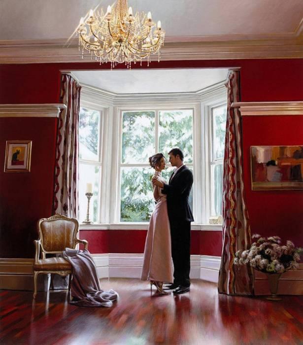 Мужчина и женщина у окна