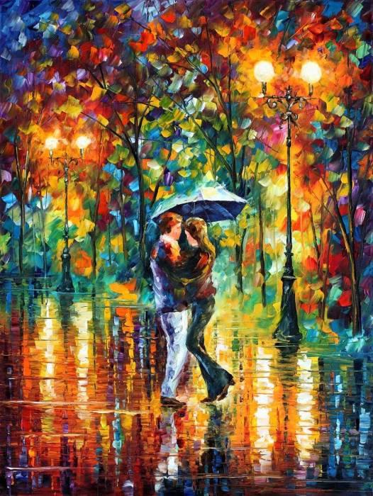 Мужчина и женщина осенью